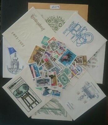 Lot Of Unused East German First Day Covers And Ddr Stamps,1960's 1970's
