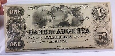 1860? $1 Remainder Note Bank of Augusta Georgia