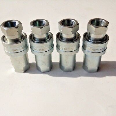 """1/2"""" NPT, ISO-5675 AG, Coupling Hydraulic Quick Disconnect, SMS-AG-08, 4 Sets"""