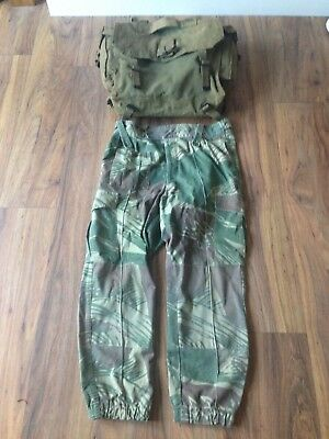 Original Rhodesian Army camouflage trousers and back pack