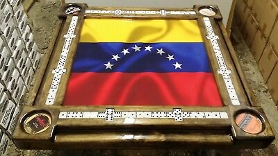 Venezuelan Flag & Beverage Domino Table by Domino Tables by Art