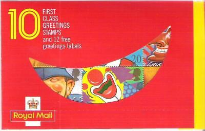 Qe2 1990 'smiles'  Greetings Booklet Kx1 With Stamps & Labels