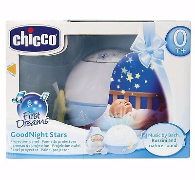 Chicco Goodnight Stars Soft Musical Nightlight Projector (Blue) New Boxed Sealed