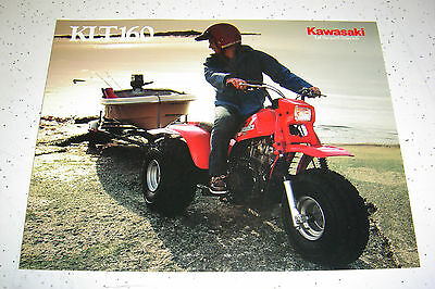 1985 Kawasaki KLT160 - A1 Sales Brochure,Genuine NOS, 4 Pages.