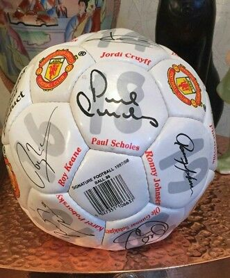 Manchester United 1997-1998 Squad Signed Football