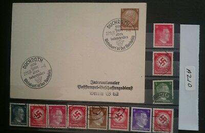 German Ww2 Stamps / Postcard , Original, 1939 /45