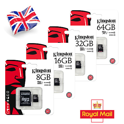 Kingston 32GB Class10 Micro SD Memory Card For Camera & Mobile Phones + SD Adapt