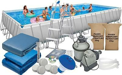Intex HUGE 32ft X 16ft X 52in Ultra Frame Swimming Pool Set 28376 Above Ground