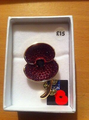 Royal British Legion | Poppy Collection Large Brooch Gold Tone