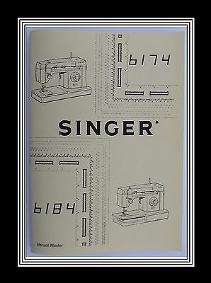 SINGER Models 6174 & 6184  sewing machine instruction Manual Booklet No Machine