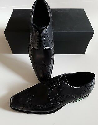 Hugo Boss Herren Schuhe 40,5 Schwarz *neu* Oxford Business Anzug Shoe Men Uk 6.5
