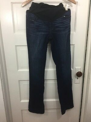 "A Pea In The Pod Maternity Straight Skinny Jeans Distressed, Size 27 32""inseam"
