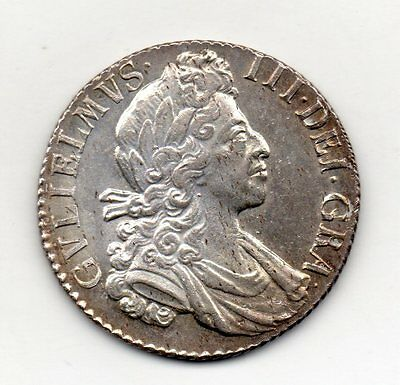 1700 Shilling, William Iii, Fifth Bust, High Grade