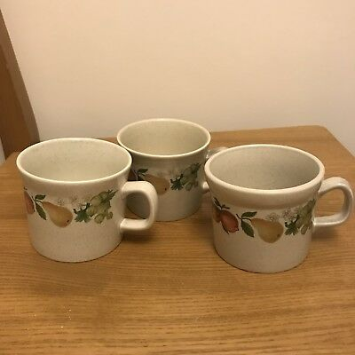 3x WEDGWOOD (QUINCE ) OVEN TO TABLE MUGS / CUPS -  SEE LISTING