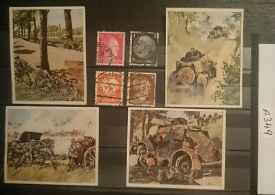 German , Third Reich , Picture Cards / Stamps , 1933/45, German Army .