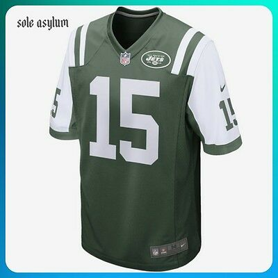 Nike NFL New York Jets Brandon Marshall Jersey Green White Sz Medium 468963-355.