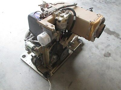 Lister Petter single cylinder electric start diesel engine, 1.8hrs run time