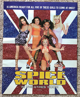 THE SPICE GIRLS - SPICE WORLD 1997 Full page USA magazine ad