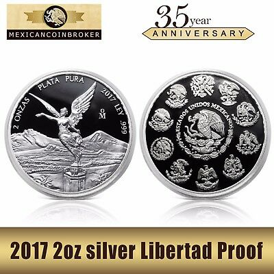 2017 2oz Silver Libertad Proof  *Treasure Coin of Mexico™
