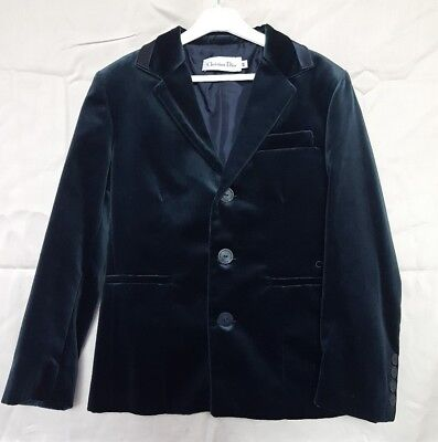 Beautiful Designer Christian Dior Boys Age 10 Dark Blue Velvet Jacket