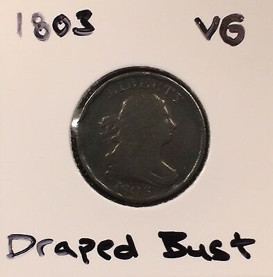 "1803 Draped Bust Half Cent ""VG"" Liberty Penny 1c 1/200"