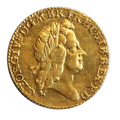 1726 Gold Half Guinea Coin, George I Second Laureate Bust