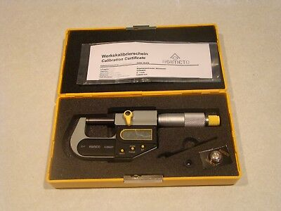 "Asimeto Electronic Digital OD Micrometer 0-1"" Model No. 285002 .00005"