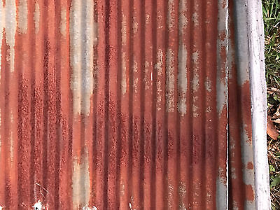 Antique Reclaimed Rusty Metal Roof Panels SMALL Corrugated $40 per sq ft.