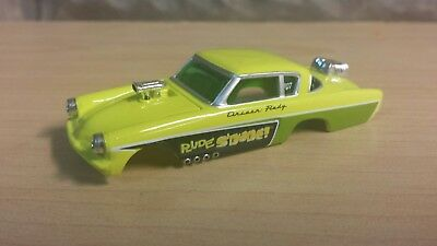 Auto world tjet slot car body Studebaker funny car lime green