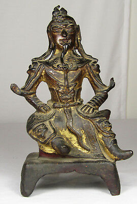 Chinese Bronze Guardian Figure Likely Ming Dynasty Possibly Earlier