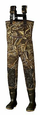 New Men 5mm MAX-5 Camo Fishing/Hunting Neoprene Wader Lug Boots Size 10 Stout