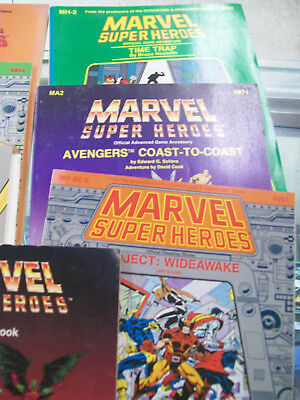 7 Marvel Super Heroes Tsr Gaming Books Judge's Wideawake Avengers Time Trap Book