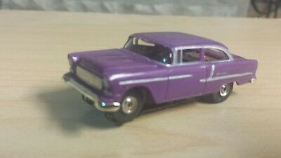 Aurora chassis model motoring purple 1955 Chevy bel air
