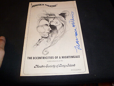 RARE 1968 Playbill..Signed by Tennessee Williams. THE ECCENTRICITIES OF A NIGHTI