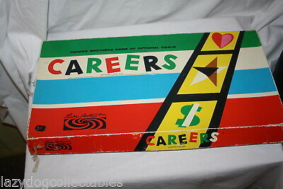 Careers Board Game Vintage Parkers Bros Game 1960's