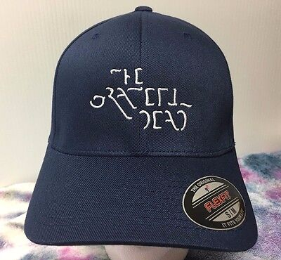 8ad188f7 Grateful Dead The Movie Embroidered Flexfit Ball Cap Black Navy or Olive