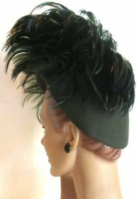Spectacular!! Vintage 40's Structured Feather Felt Hat NY Creation EX!