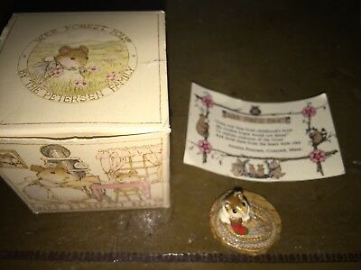 Wee Forest Folk First Christmas - Retired in 1986 - Older Style WFF Box