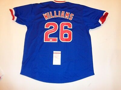 BILLY WILLIAMS autographed signed Cubs blue jersey JSA Witness