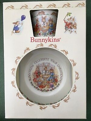 Royal Doulton Bunnykins Christening Set