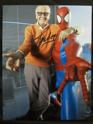 Stan Lee Spiderman Autographed/ Signed 8x10 wCoa Card