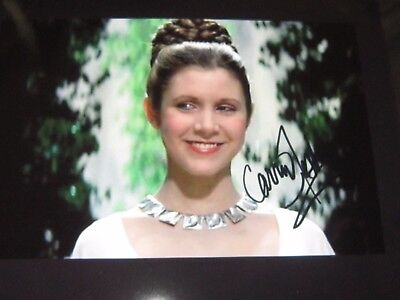 Carrie Fisher Autographed/ Signed 8x10 wCoa Card