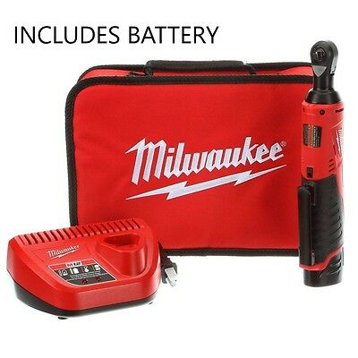 "Milwaukee 12 Volt M12 Cordless 3/8"" Ratchet Kit 2457-21 New Includes Battery Chg"
