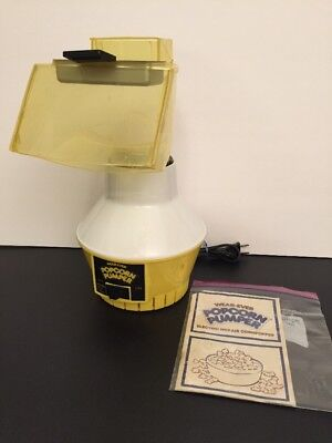 Wear Ever Vintage Popcorn Pumper Popper Complete With Butter Tray And Recipe Bk