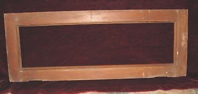 Vintage 1915 Architectural Salvage Over-The-Door Transom Window Frame, No Glass