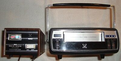 Vintage Sears Home & Auto 8 Track Solid State Tape Player & DC Power Converter