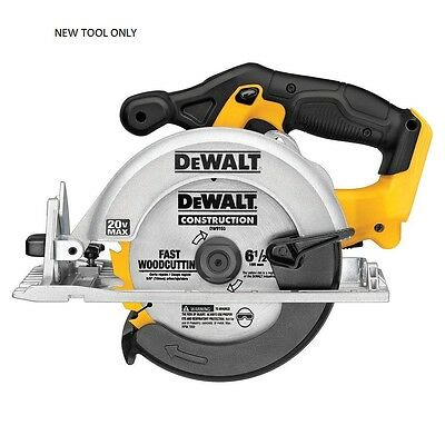"DEWALT DCS391B 20V MAX Li-Ion Cordless 6-1/2"" Circular Saw Tool Only  NEW - NR"