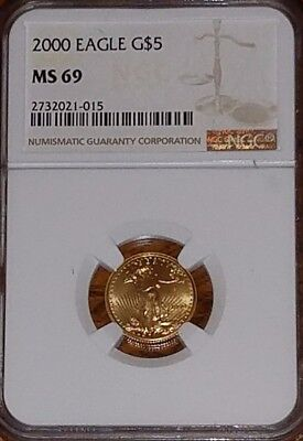 2000  $5 Gold Eagle    MS69 NGC         ***Auction***