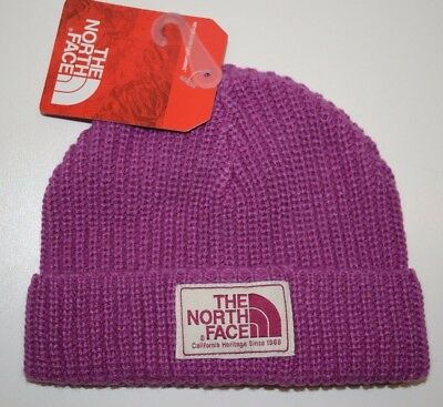 073d9dc7113 The North Face Infant Baby Salty Puppy Beanie Winter Hat Purple Sz XXS 0-6M