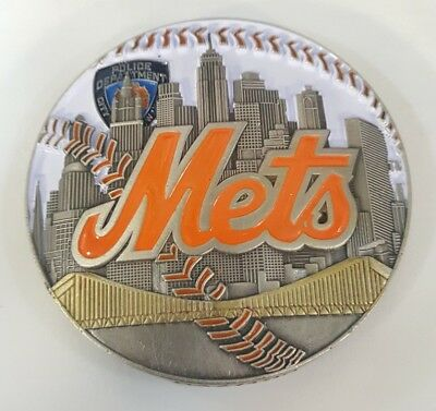 Rare Nypd Challenge Coin Ny Mets Citifield